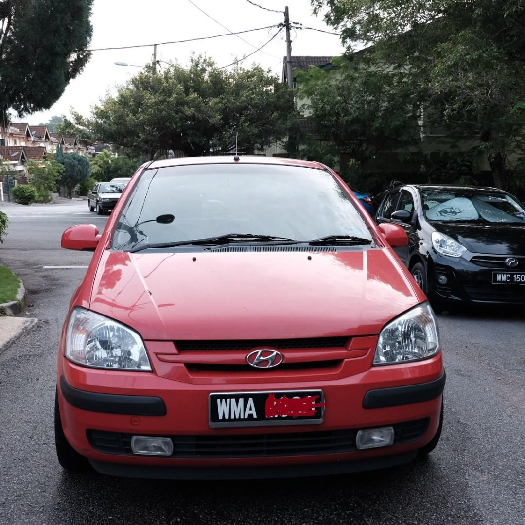 HYUNDAI GETZ RED 2004 (AUTO) FOR SALE