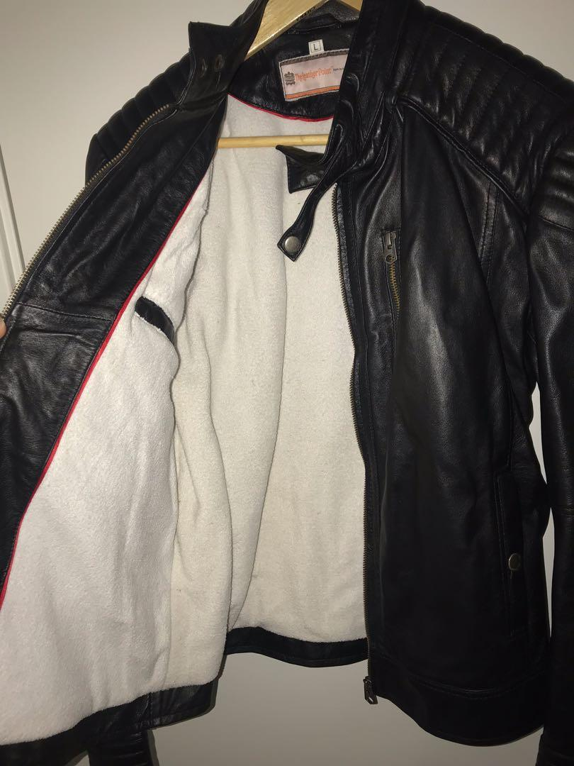 Men's leather jacket size L
