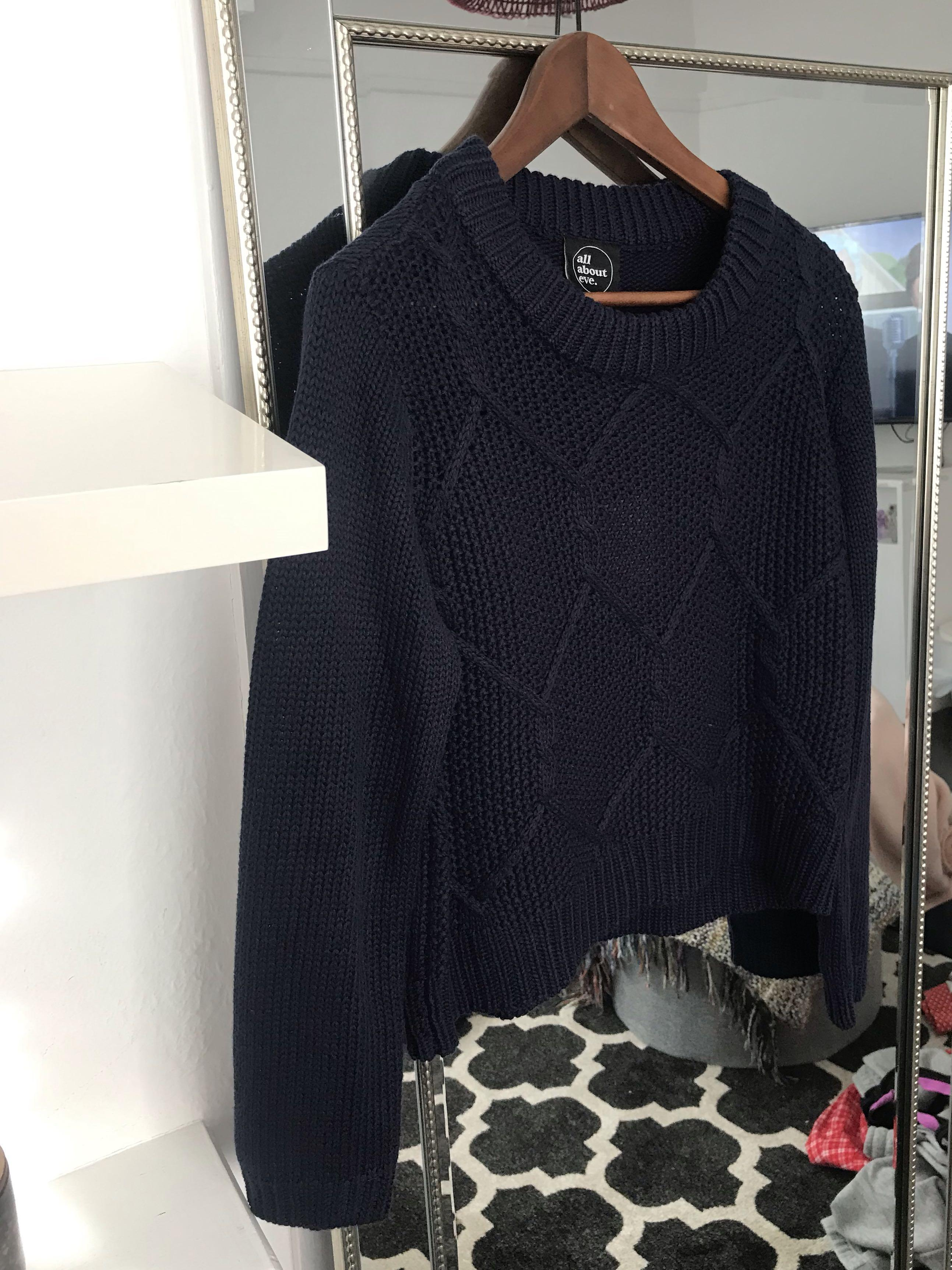 Navy blue knit jumper