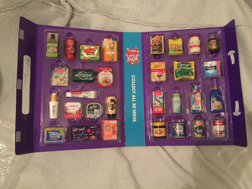 NEW Coles Little Shop 2 Full Set Of 30 Minis & Case