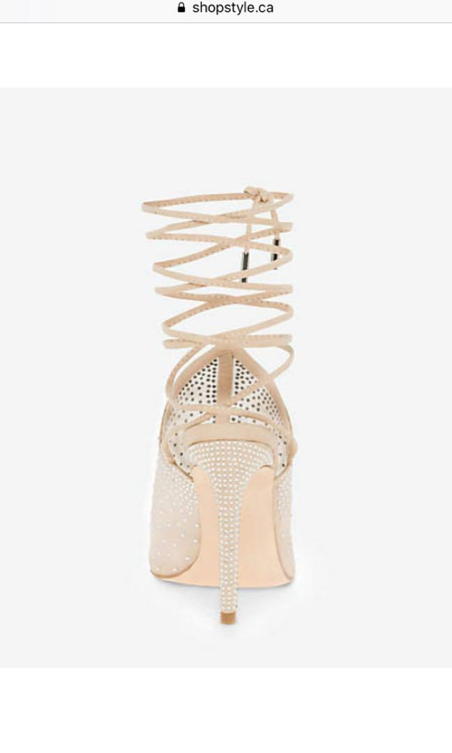 Nude Tie Up Heels Sandals