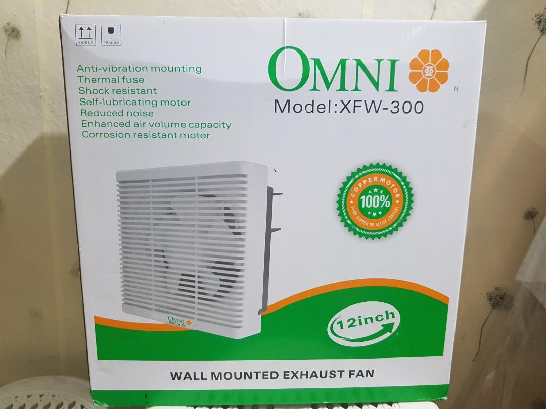 Omni Wall Mounted Exhaust Fan Home Furniture Home Appliances Other Kitchen Appliances On Carousell