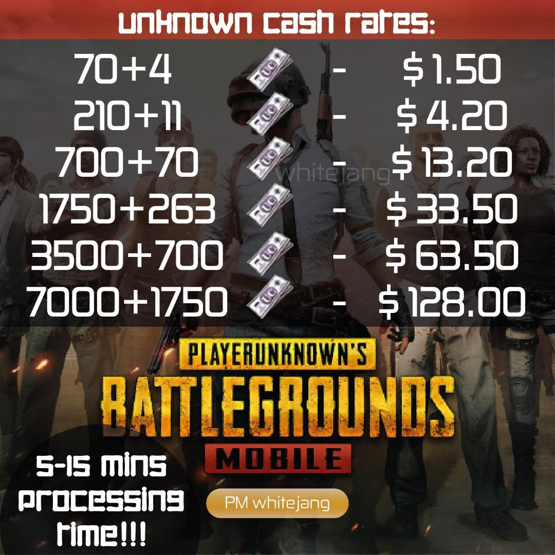 PUBG Mobile Unknown Cash (UC) Top up, Toys & Games, Video