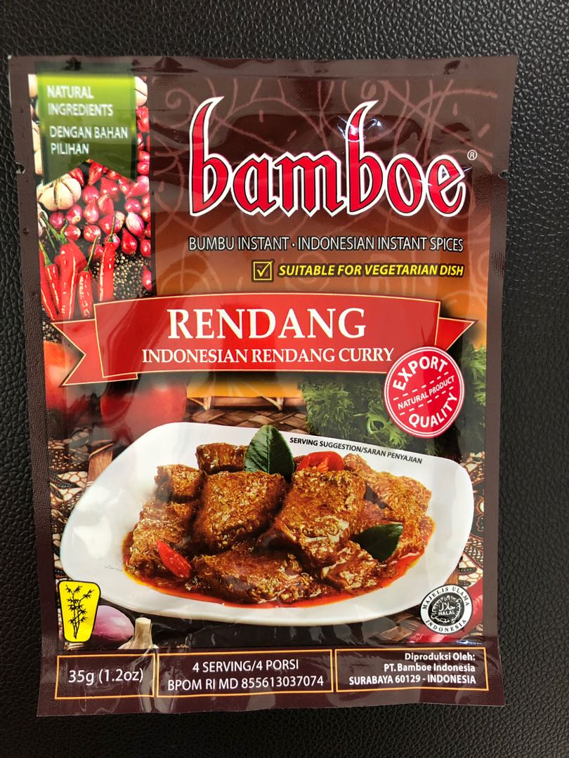 READY] Rendang from Bamboe, Food & Drinks, Instant Food on Carousell