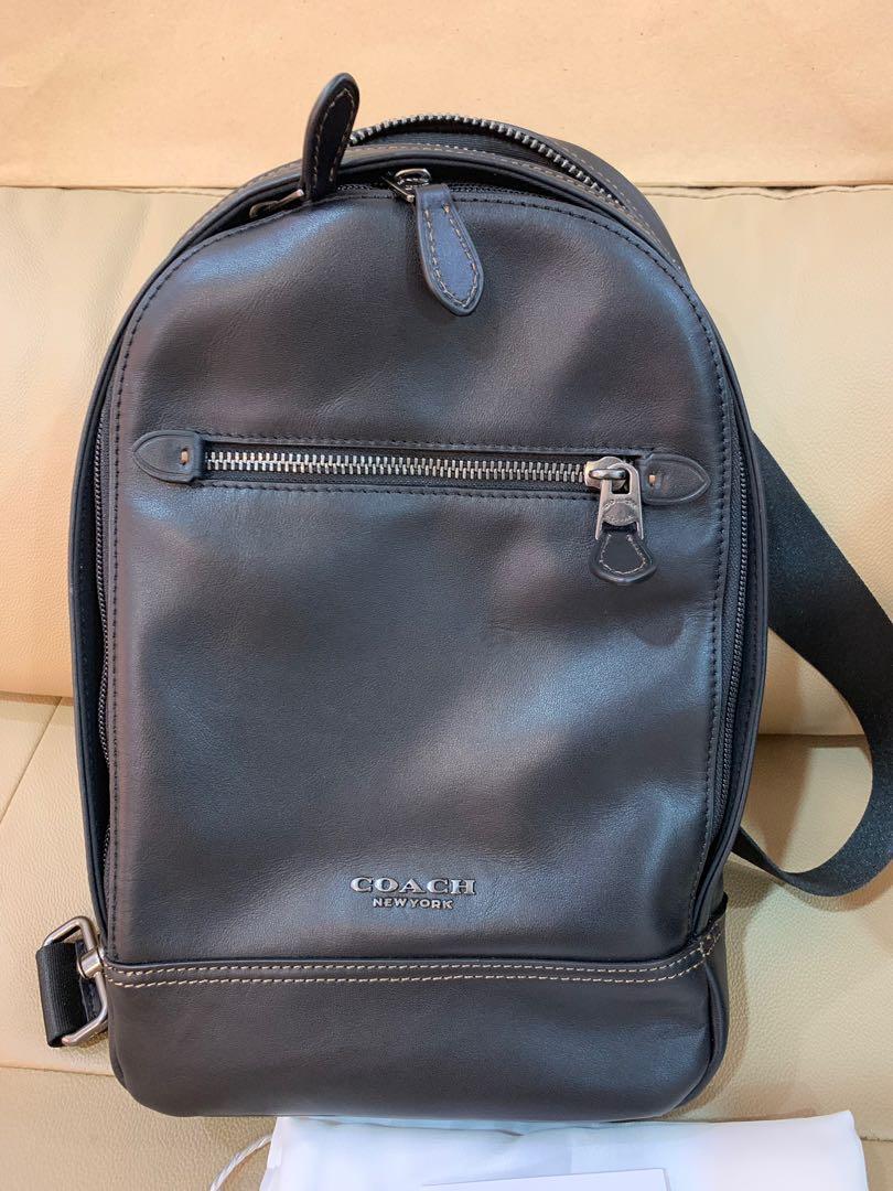 Ready Stock Authentic coach men chest shoulder bag 37598 coach