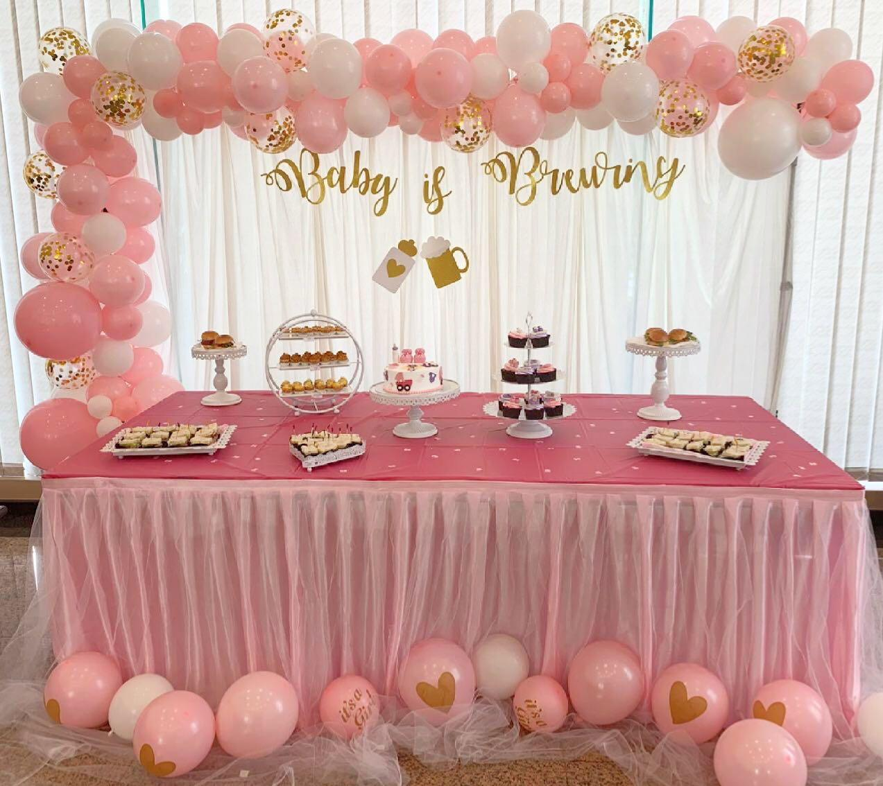 Rent backdrop veil curtains tutu tulle table skirting dessert stands trays table cloth