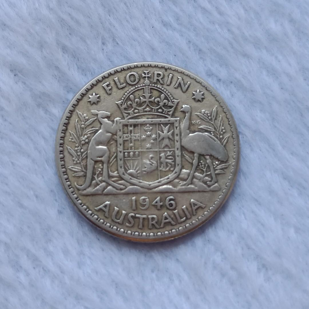 Silver Coin 73 Year 1946 Australia King George Vi On Carousell