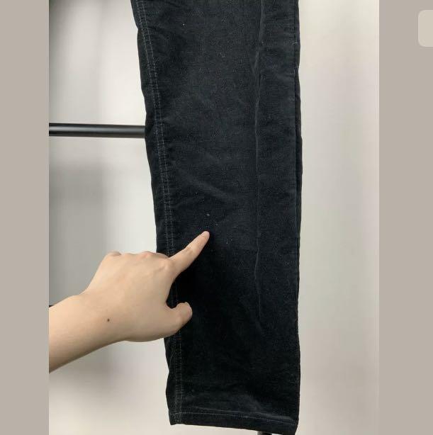 Sportscraft 16 black basic suede velvet pants jeans plus size winter casual
