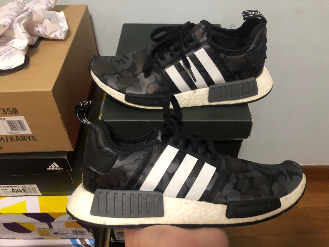 huge selection of e5477 35d48 *STEAL* Bape Adidas NMD R1 Black Camo