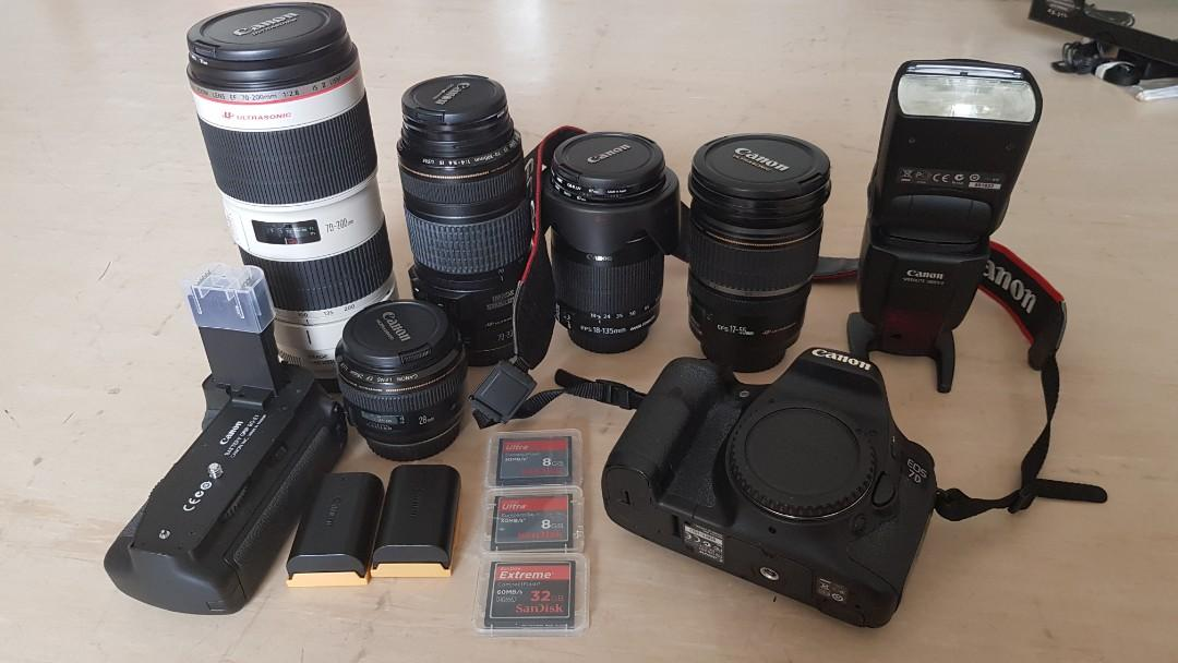 *Super Good Deal* Letting go Canon EOS 7D together with Various Lenses! No Joke!