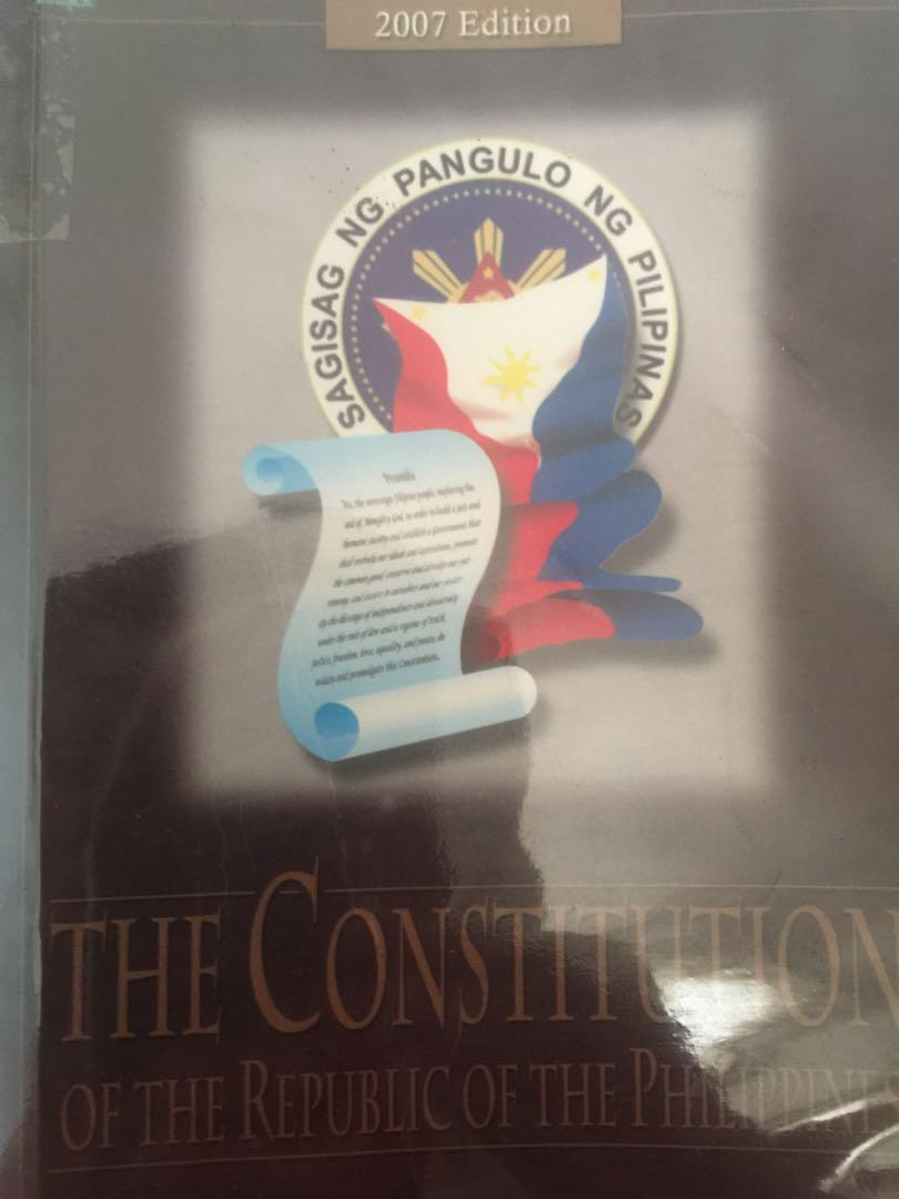 The Constitution of the republic of the philippines by: Jarapa, Perez and Segarra 2007 edition
