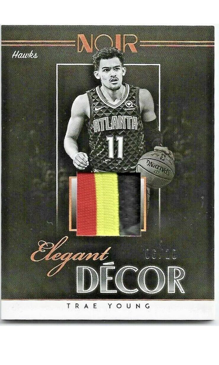 Trae Young 2018 19 Nba Panini Noir Elegant Decor Jersey 3