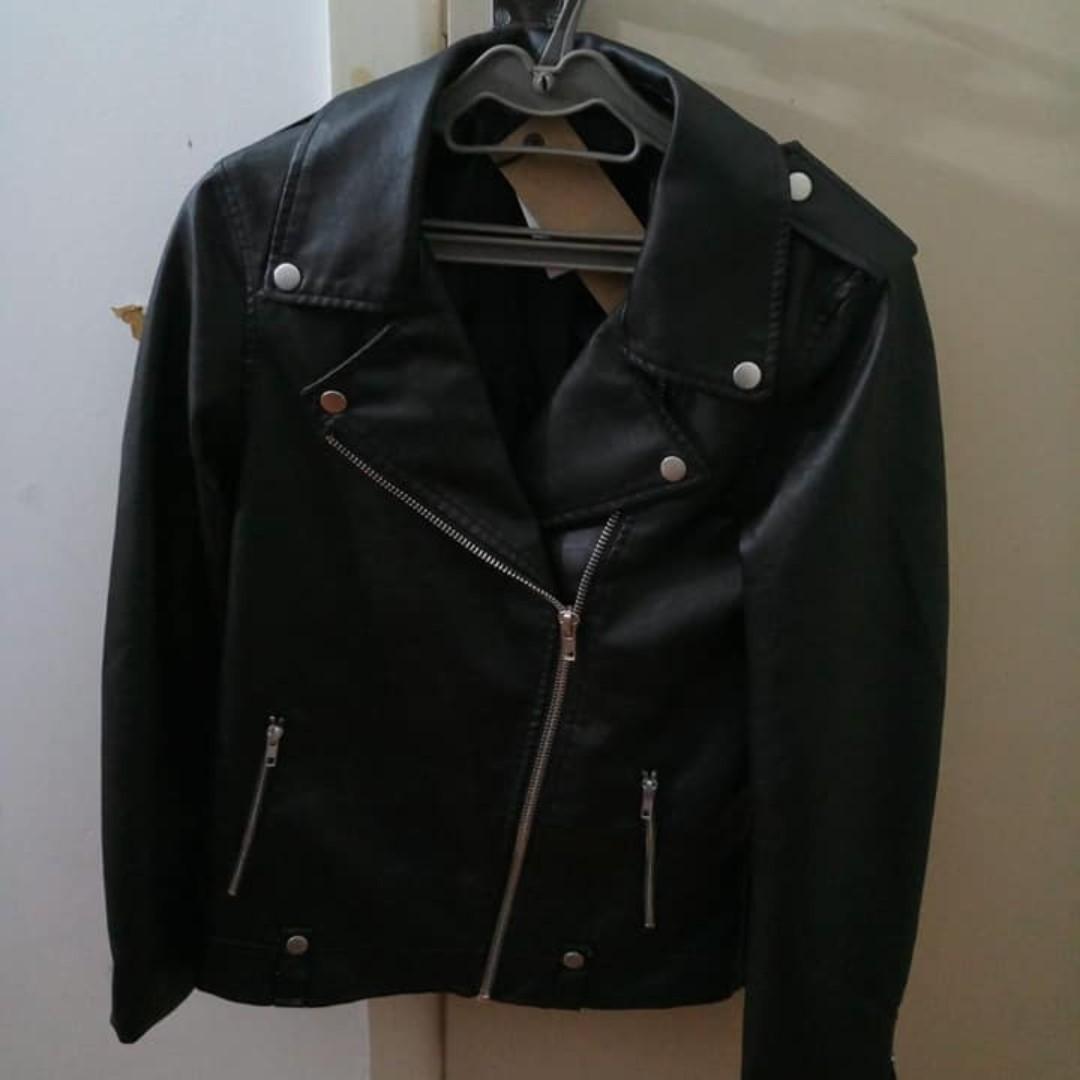 Women's Faux Leather Jacket (Size 10)