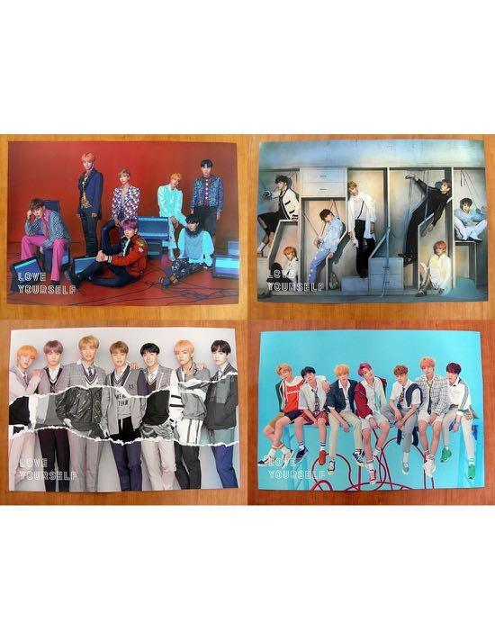 [WTS] BTS LOVE YOURSELF ANSWER ALBUM POSTER SET WITH TUBE