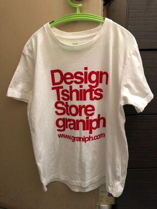 Design Tshirts Store graniph 白色tee