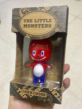 (全新) Mini Labubu 泰國限定 紅白藍 Red / White / Blue 配色 (龍家昇 設計師 How2work The Little Monster Kashing Lung) zimomo 森林精靈系列