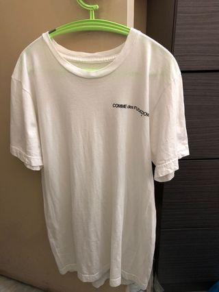 comme des fuck down 白tee