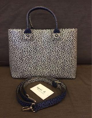 Agnes b leather hand bag (limited edition) 真皮限量版手袋