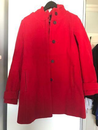 Red Coat from Zara