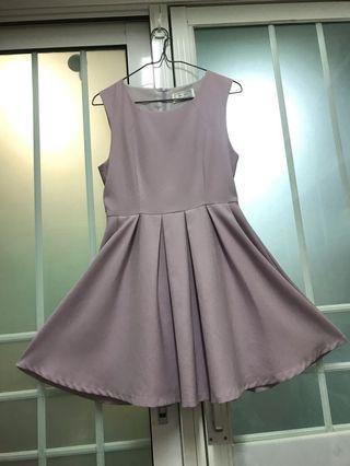 韓國連身裙 Korea Dress 淺粉紫色!Very comfortable material! 超靚 cutting!