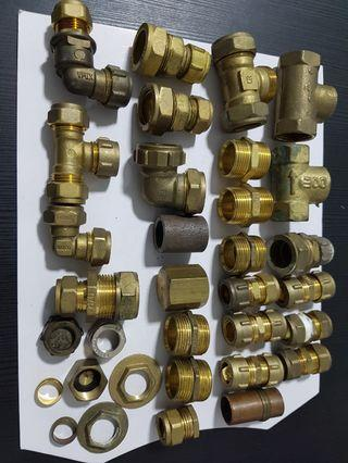 Brass pipe fitting parts