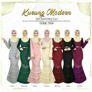 NEW ARRIVAL‼️ 701 • KURUNG MODERN EMBROIDERY LACE