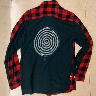 Undercover UC Spinning Patch Flannel Shirt