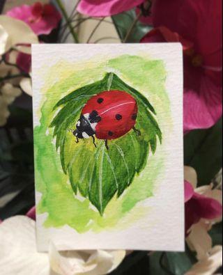 Ladybird watercolor painting