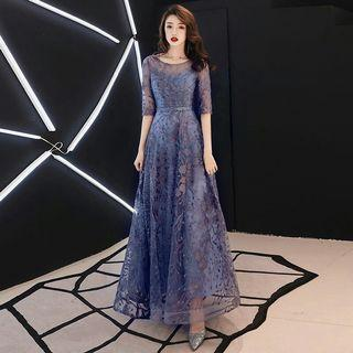 PRE ORDER🌠Little Evening Dress Female New Style Banquet 2019 Noble Temperament High-end