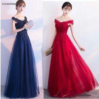 PRE ORDER🌠 Elegant Bridal Off Shoulder Wedding Maxi Princess Dress Evening