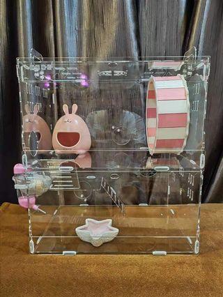 🚚 Acrylic Hamster Cage(Zoog)(bundle offer)
