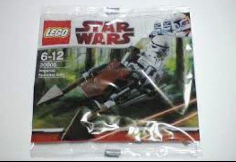 全新未開包裝 Lego 30005 Imperial Speeder Bike - Mini polybag StarWars 星戰系列 (09年出產)