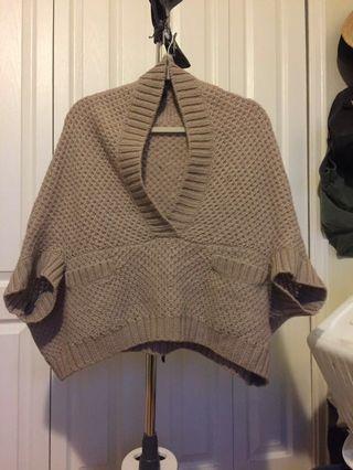 Ella Moss wool poncho