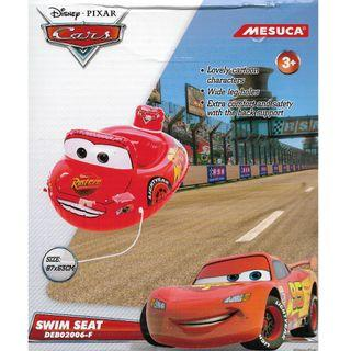 (Free Delivery) Mesuca Sports Disney Pixar Cars Lightning McQueen Inflatable Baby Float Swim Ring Seat