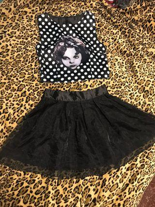 日本🇯🇵可愛上衣 + 半截裙 ! Top + Skirt @$55/ piece ($100/ set) (Pls see all the pic)
