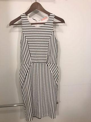 Striped Slim Fit Dress
