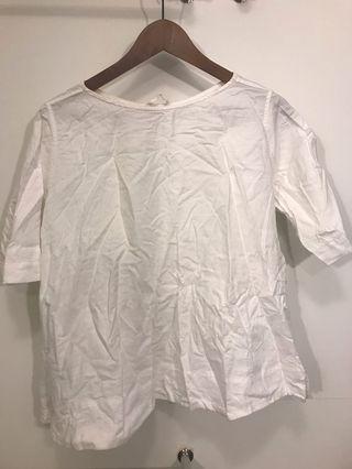 Cute white linen top