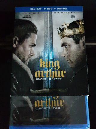 New King Arthur legend of the sword blu ray dvd with slip cover rare movie bluray