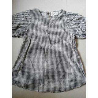 Korea checked blouse