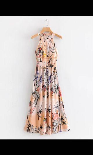 Maxi floral dress 夏天長裙