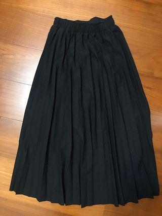 二手☀️黑色 百褶裙