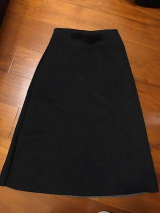 黑色 太空棉 半身裙