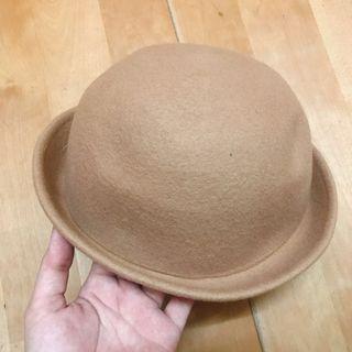 二手☀️可愛 駝色 圓帽