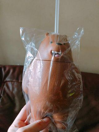 🚚 We Bare Bears water bottle with straw