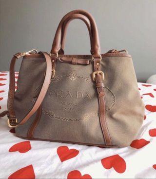 Prada Ladies Handbag With Strap