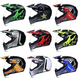 Many Colours/Designs Full Face Adventure Dual Sports Motorcycle Helmet Scrambler Motorcross Road Dirt Motorbike Bike can use for escooter too