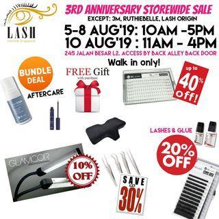 Lash Extensions Supplies Annual Sale