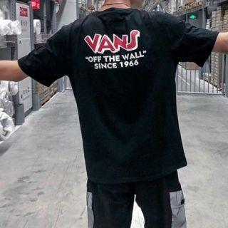Vans Off The Wall Font Graphic T Shirt