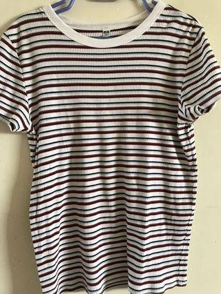 Uniqlo striped knitted shirt