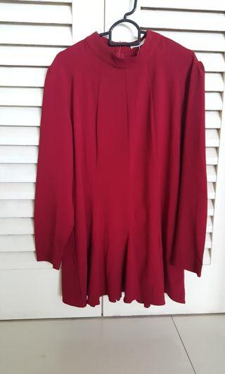 Plus size red blouse